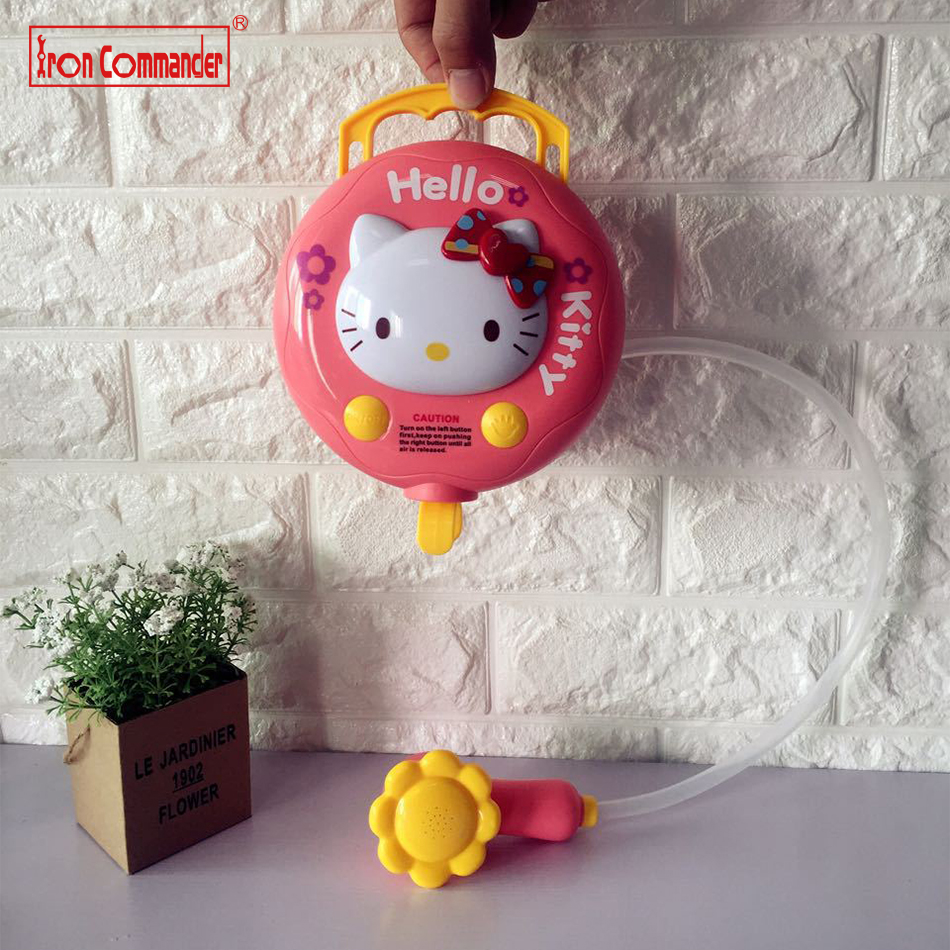 Hello kitty bathroom accessories - Iron Commander Baby Children Hello Kitty Animals Cat Pig Non Toxic Bath Toys Spray Bathingroom Shower Accessories Gift For Kids