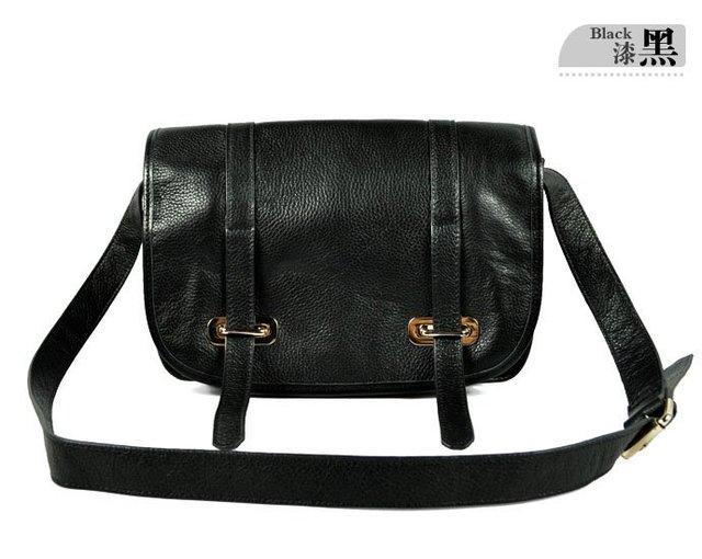 New Inspired Hollywood real Leather Large Satchel Messenger Shoulder Bag Handbag free shipping