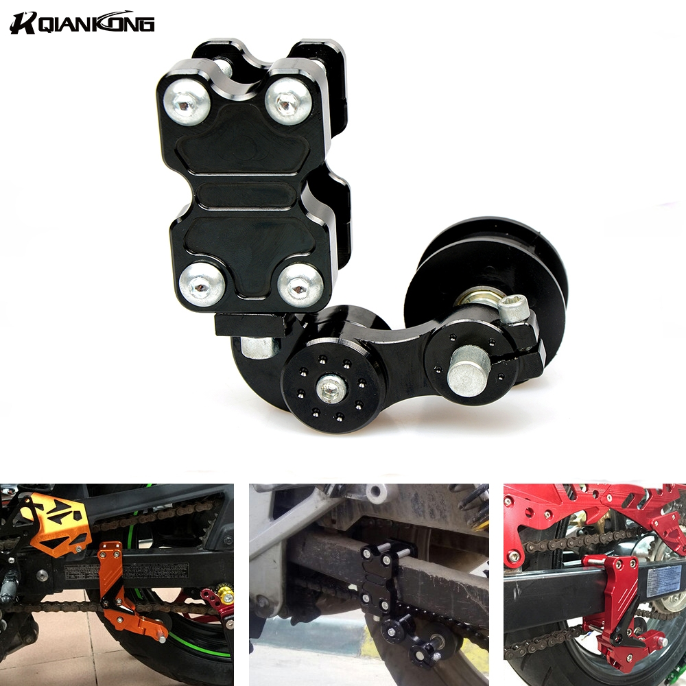 Motorcycle Chain Tensioner Chain adjuster Bolt on Roller Adjust For KAWASAKI Ninja ZX6R ZX7R ZX9R ZX10R ZX12R ZX14R Z1000 ZZR600 in Chain Sets from Automobiles Motorcycles