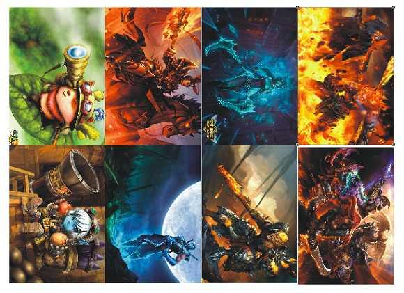 8 Pcs Lot Different Designs Anime Game A3 Posters Paintings