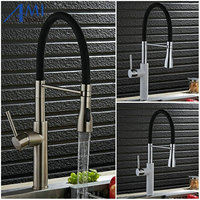 Colorful Kitchen Faucet Pull Up Down Sink Faucets Basin Mixer Tap 360 Swivel 2 Function Chrome