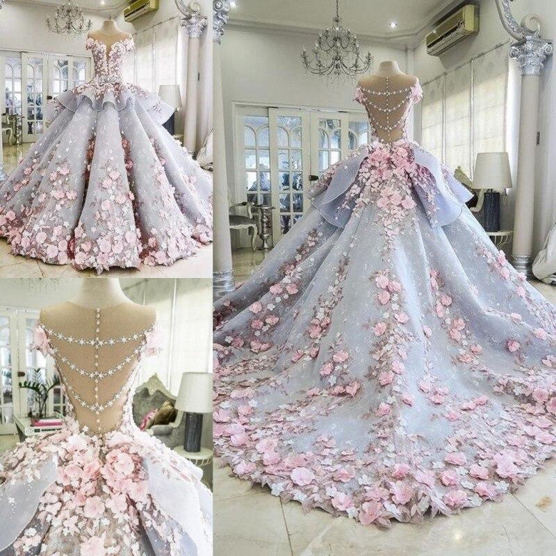 201 Spring Xia Xinkuan Korean Package Long Sleeve Bride Self-cultivation Show Lanky Tailing Wedding Dress Full Dress 05419