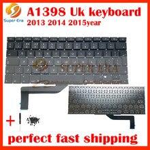 "5Pcs/Lot Original New Laptop A1398 UK Keyboard For Macbook Pro 15"" Retina A1398 UK Keyboard Layout without backlit 2013-2015"