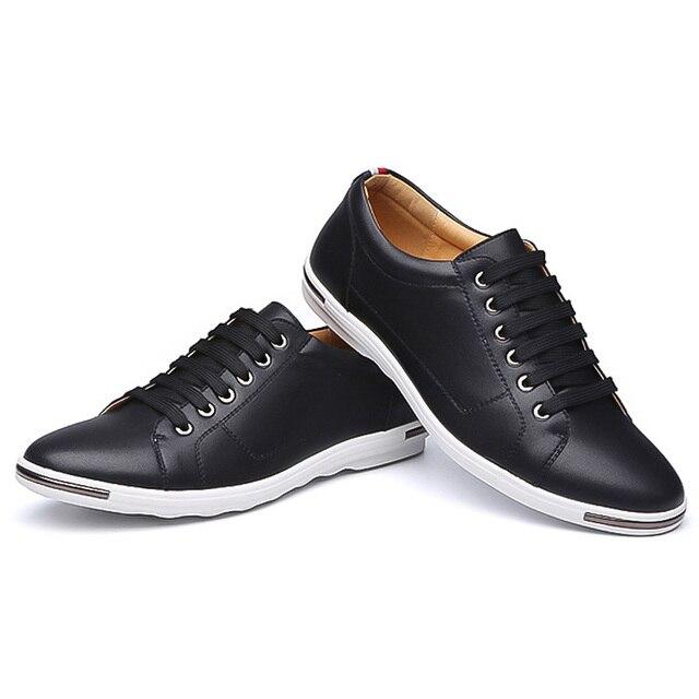LAKESHI New 2018 Men Shoes Brand Flat Shoes Men Fashion Male Shoes Summer Footwear Comfortable Men Casual Shoes 1