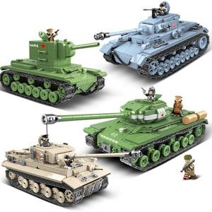 Military series World War II WW.2 World war ambulance Tank armored vehicle submarine Model Building Blocks Toys Gifts