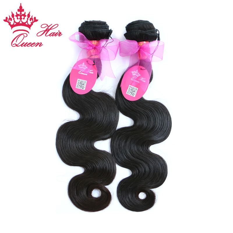 Queen Hair Products 100% Brazilian Virgin Hair Extensions Unprocessed Human Hair Weft Body wave 2pcs/lot Queen Hair Co., Ltd