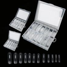 3 типа, 120 шт, прозрачные накладные ногти с полным покрытием, накладные ногти, инструмент для полировки ногтей+ коробка