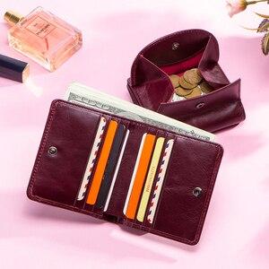 Image 5 - Маленький кошелек из натуральной кожи с отделением для карт для женщин