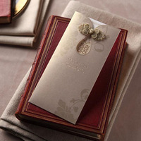 50pcs Luxury Laser Cut Wedding Invitations Card Personalized Custom Envelope Seals Event Party Supplies