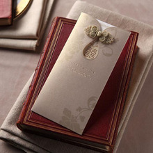 50pcs Luxury Laser Cut Wedding Invitations Card Personalized Custom Envelope & Seals Event & Party Supplies