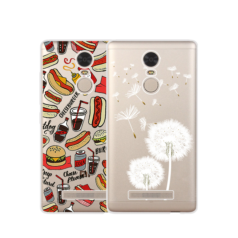 TPU Soft Cases For Xiaomi Redmi Note 3 Pro Transparent Printing Drawing Phone Cases Cover For Redmi Note 3 Silicone Phone Cases