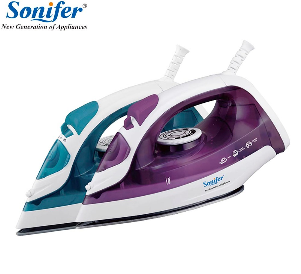 1600W Mini Portable Electric Steam Iron For Clothes Multifunction Adjustable Ceramic soleplate iron for ironing Sonifer