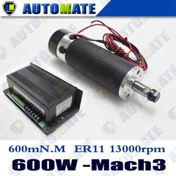 600w 13000rpm Air Cooled Dc Spindle Motor Power Supply