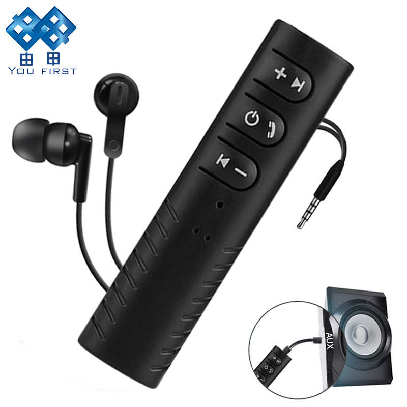 YOU FIRST Wireless Adapter Bluetooth Receiver Bluetooth 4.1 Audio AUX Adapter 3.5mm Music Car Kit For Speaker Headphone Car PC