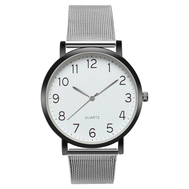 Women 's Watch  Unisex Simple Business Fashion  Casual  Ladies Watch  Stainless Steel Mesh montres femme Women Watches  19JAN10