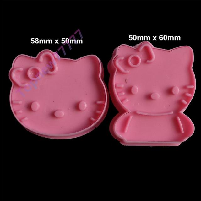 Topnew 2pcs Pink Hello Kitty Cookie Cutters