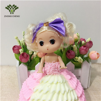 10 PCS 1 box Cute Confused Doll cake simulation happy birthday