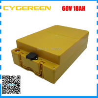 1500W 60V 18AH Lithium battery pack 60V 17.5AH Electric bike battery with plastic Case use INR18650 35E 3500MAH Cell 2A Charger Electric Bicycle Battery    -