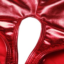 Women's Metallic Style Open Crotch Panties