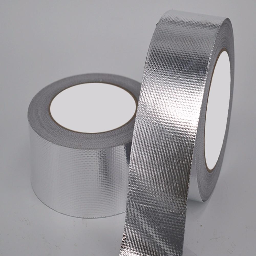 US $43 99 |Aluminum foil tape high temperature resistant fiberglass cloth  aluminum foil pipe thick waterproof sealing tape trap flame retar-in Tool