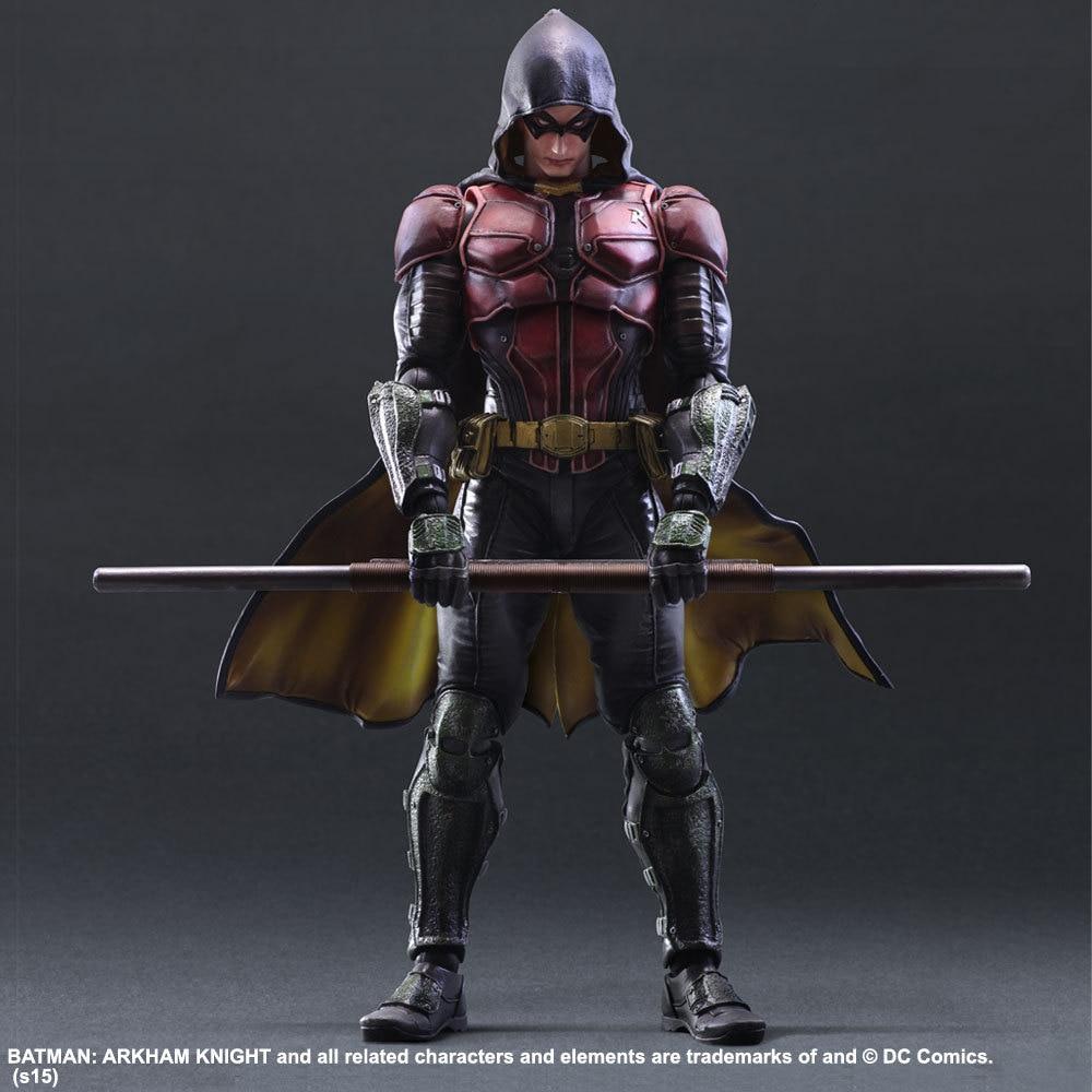 Birthday Gift PA Kai Action Figure Collection 25cm DC Superhero Batman Arkham Knight Robin Model Decorations худи print bar red hood arkham knight edition