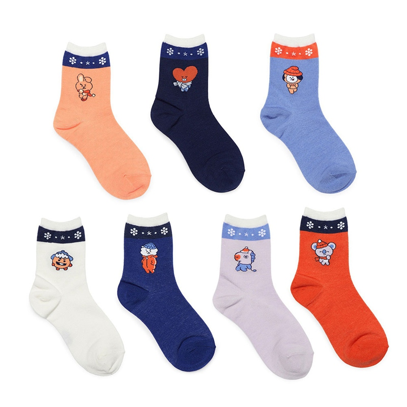 New Kpop Bts Bangtan Boys Comfortable Cotton Socks Cooky Chimmy Tata Mang Shooky Koya Rj Warm Long Socks