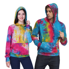 3D Print Cool Cartoon Stamp Pocket Couples Hoodies Clothes