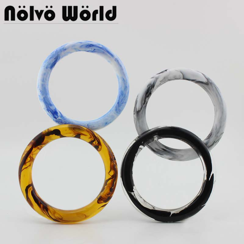 15 Pairs=30 Pieces,Accept Mix 4 Colors Customized 1cm Thick 12cm Purse Circle Handle Frame,HOT Selling Beach Bag Round Handle