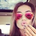 Clássico Marca Designer Piloto Óculos De Sol Das Mulheres Da Moda Motorista Óculos de Sol Espelho Aviador óculos de Sol Dos Homens UV400 Masculino Feminino Pontos