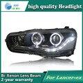 Caso de alta qualidade Car Styling para Mitsubishi Lancer ex 2009-2011 Faróis LED Farol DRL Lente HID de Feixe Duplo Xenon