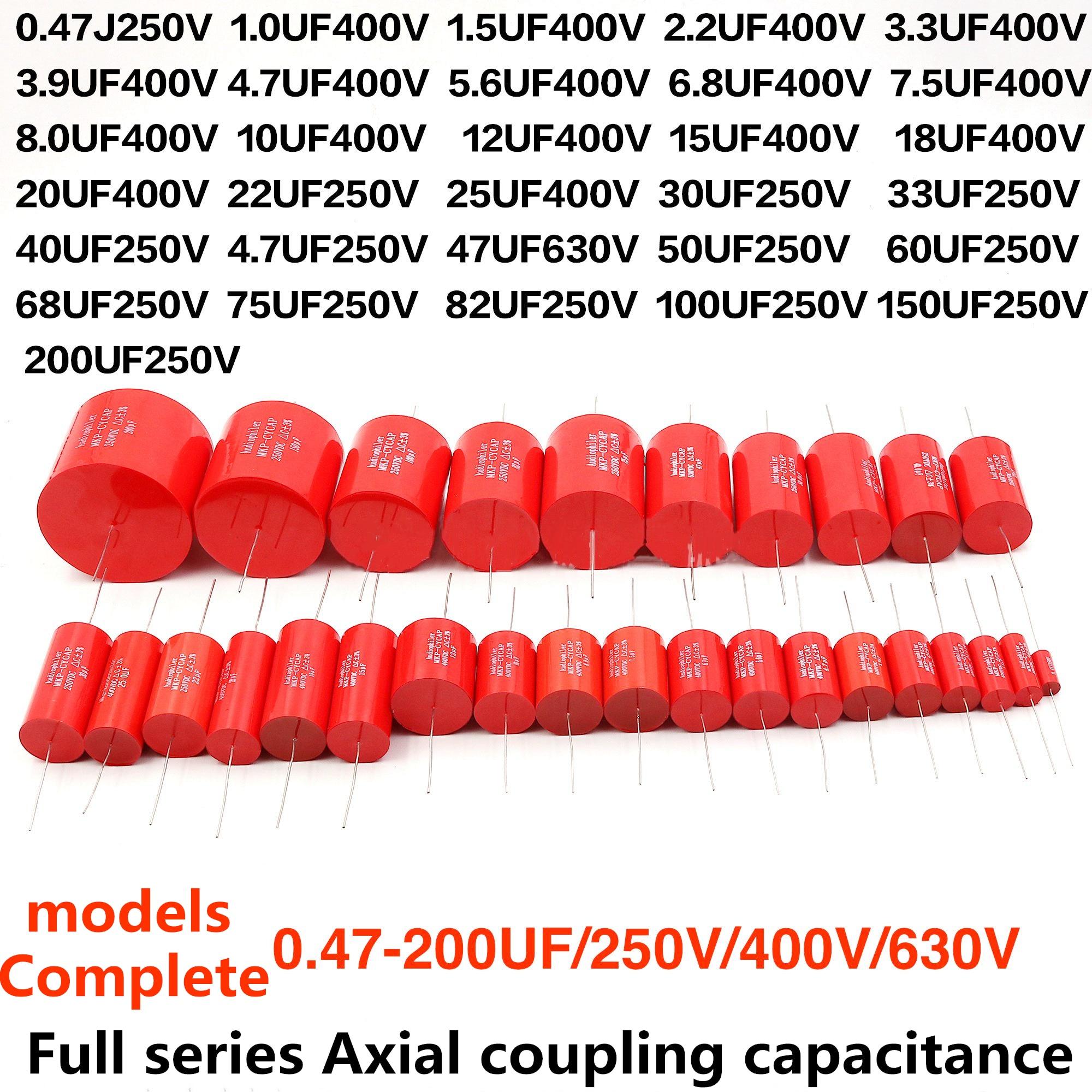 Audiophiler Mkp Capacitor Kondensotor HIFI Fever Electrodeless Capacitor Audio Capacito Metal Film Coupling Frequency Dividing