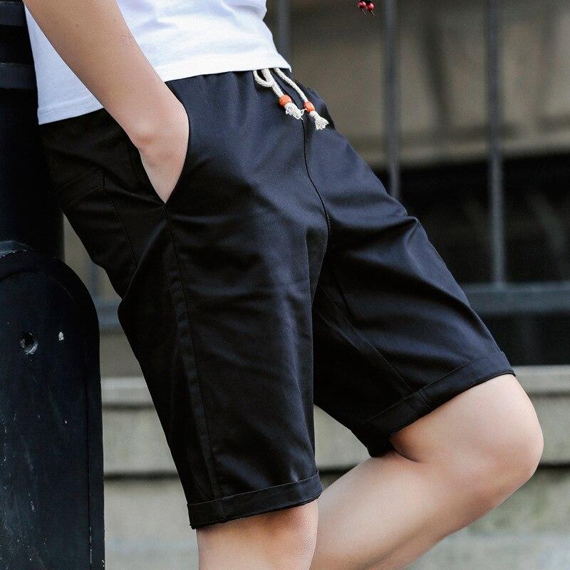 Männer Klassische-Fit 5-Pockets Cargo Short Baumwolle Elastische Fleece casual Shorts