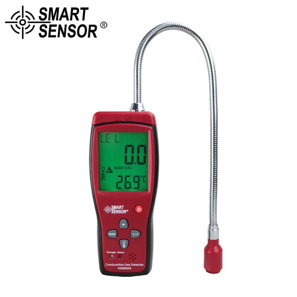 SMART SENSOR Detector Combustible Gas leak tester Natural Gas Coal Gas Methane Toxic Gas Tester Air Quality Analyzer Monitor dy8800a combustible gas leak detector gas tester