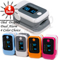 4 Color Dual Alarm Portable Convenient  Fingertip Pulse Oximeter SpO2 Blood Oxygen Saturate Heart Rate Monitor Health Care