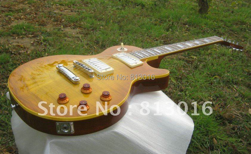 wholesale Custom Shop 1959 VOS Top Iced Tea Burst electric guitar Chinese guitar vicers custom shop 1959 lp vintage signed faded tobacco burst billy gibbons guitars instruments musical electric guitar