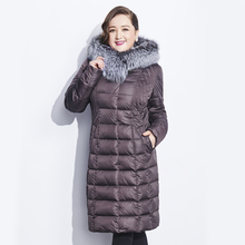 Winter Parka Down-Jacket Female Astrid Fox-Fur-Collar Fashion New Thick The Casual Brand