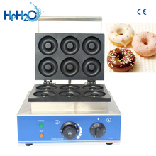 CE approved 110V/220V commercial  electric 6 holes mini donuts machine sweet donut fryer maker doughnut maker machinery eg6a electric commercial desktop mini donut fryer baking making maker machine