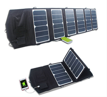 39W Solar Panel foldable charger with USB mobile phone, laptop, tablet PC ultra light high efficiency