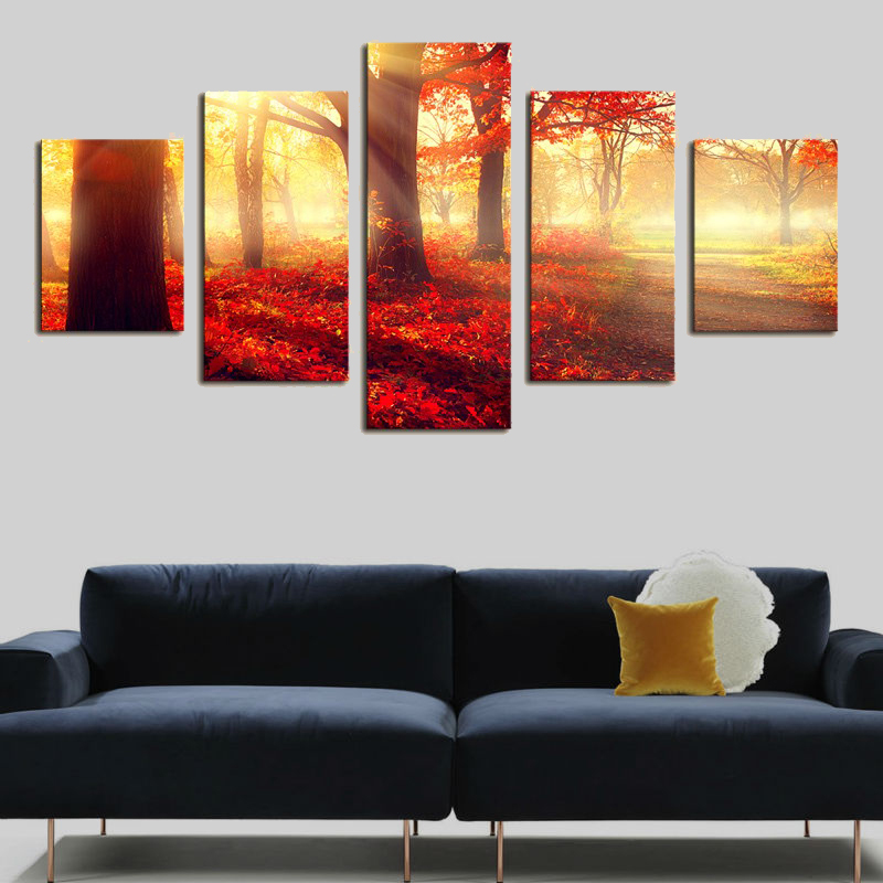 Canvas art painting calligraphy supplies street light tree for Materials for canvas painting