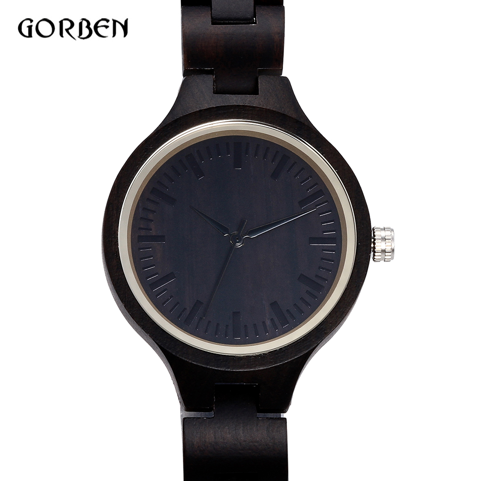 Simple Black Unique Wooden Watch Unisex Casual Natural Wood Bamboo Quartz Clock Handmade Dress Wristwatch relogio feminino 2017 woodfish bamboo wood watch for mens simple quartz watch handmade high quality wooden wristwatch wood leather strap available