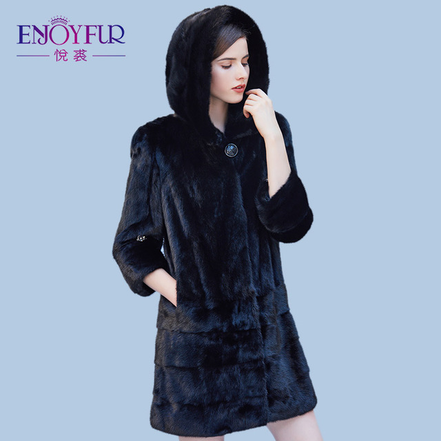 Aliexpress.com : Buy ENJOYFUR Winter Genuine Mink Fur Coats For ...