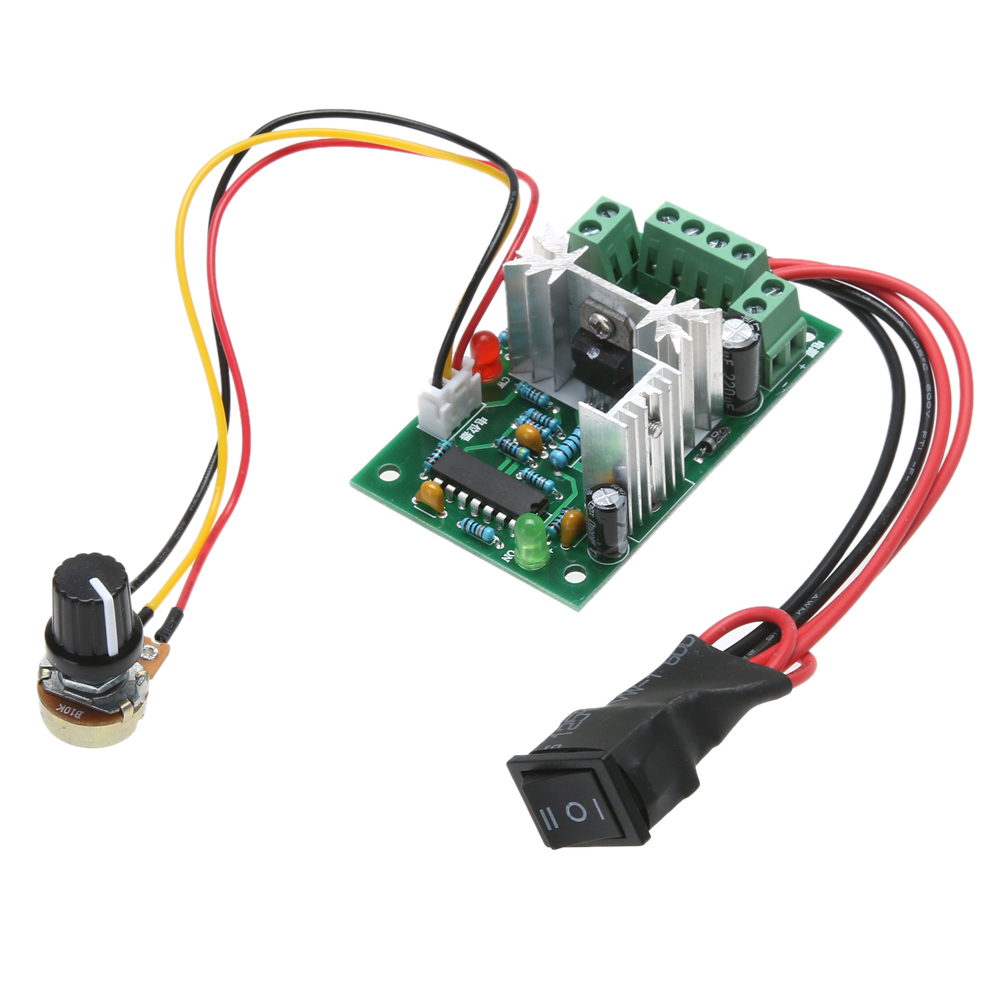 500HZ DC Motor Speed Controller 10/12/24/30V 120W PWM Speed Control Adjustable Volt DC Motor Speed Control Device CCM2 panlongic hand twist grip hall throttle 100a 5000w reversible pwm dc motor speed controller 12v 24v 36v 48v soft start brake