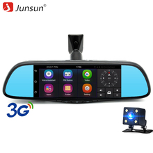 Junsun 7 inch Car DVR Camera Mirror Android 5.0 Dual Lens FHD 1080P GPS Navigation Bluetooth Registrar Video Recorder Dash Cam