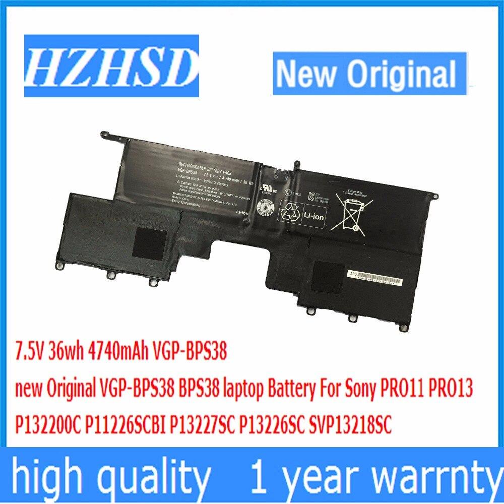 BPS38 7.5 V 36wh 4740 mAh nouveau Original VGP-BPS38 batterie dordinateur portable Pour Sony PRO11 PRO13 P132200C P11226SCBI P13227SC SVP13218SCBPS38 7.5 V 36wh 4740 mAh nouveau Original VGP-BPS38 batterie dordinateur portable Pour Sony PRO11 PRO13 P132200C P11226SCBI P13227SC SVP13218SC