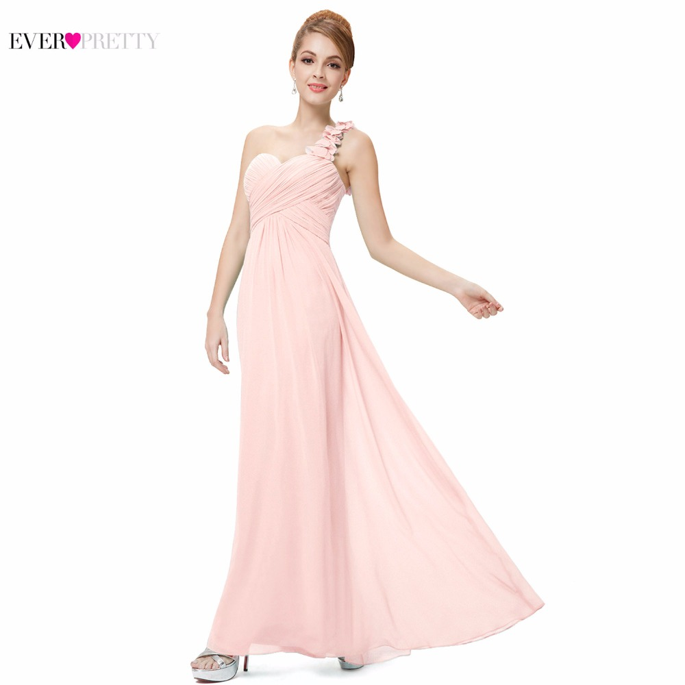 [Big Sales] Elegant Bridesmaid Dresses Ever Pretty EP09768 One Shoulder Chiffon Long Special Occation Dresses Vestido De Noiva