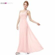 [Big Sales] Elegant Bridesmaid Dresses Ever Pretty EP09768 One Shoulder Chiffon Long Special Occation vestido de noiva