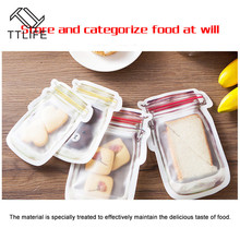 4/3PCS Pack Jar Storage Bags Reusable Snack Bag Mobile Hermetic Freezer Ziplock Bags Kitchen Food Mason Bottle Travel Seal Pouch 6 pack kit turn any wide mouth mason jar into a fermenting crock
