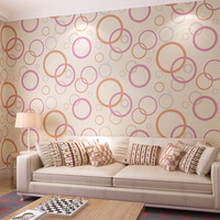 Beibehang Modern Simple 3D Stereo Relief Wallpaper Black And White Circle Living Room Background Wall Non