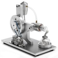 Hot 1Set Stirling Engine Model Physical Toy Motor Power Generator External Combustion Glass Test Tube School Laboratory Supplies