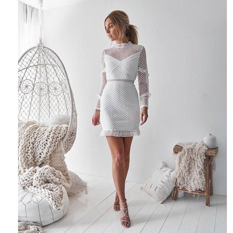 Vestido formal blanco mujer